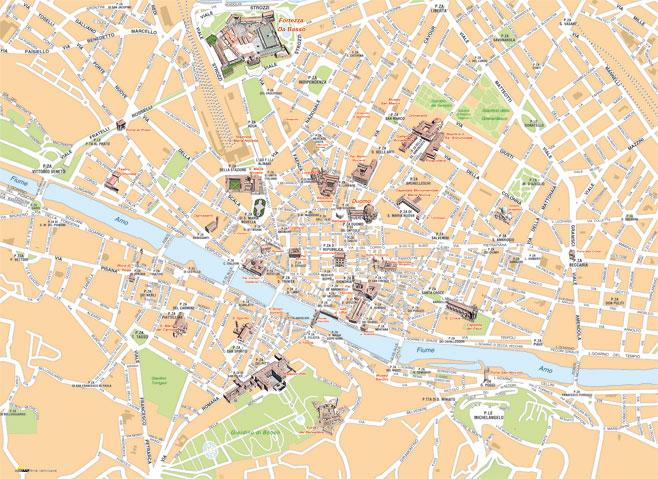Cartina Citta Di Firenze.Mappa Di Firenze Cartografia Per La Stampa Professionale