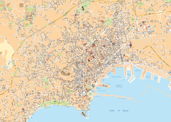 Cartina Turistica Napoli Centro.Mappa Di Napoli Pdf Vettoriale Per La Stampa Professionale