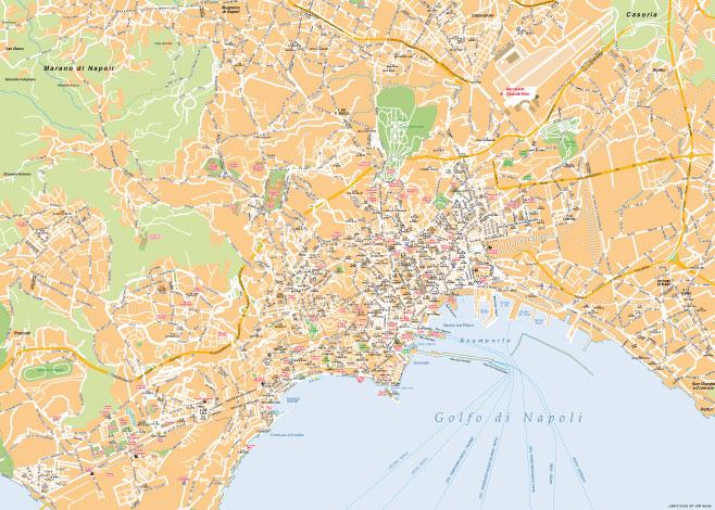 Cartina Napoli Da Stampare.Mappa Di Napoli Pdf Vettoriale Per La Stampa Professionale Mappecitta