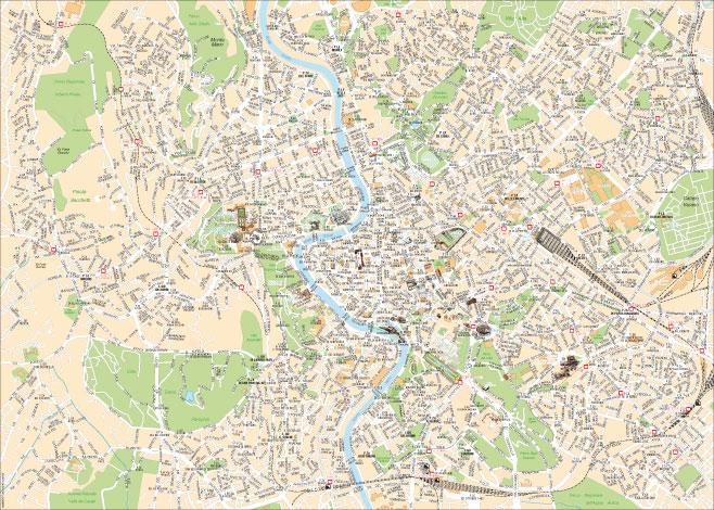 Cartina Centro Roma.Mappa Di Roma Cartine Digitali Pdf Da Stampare