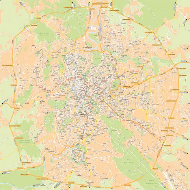 Cartina Roma Da Stampare.Mappa Di Roma Cartine Digitali Pdf Da Stampare