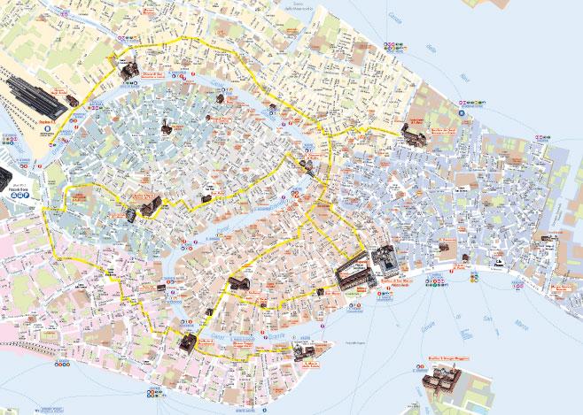 Cartina Pdf Venezia.La Mappa Di Venezia Pdf Vettoriale E Tiff Per La Stampa Mappecitta