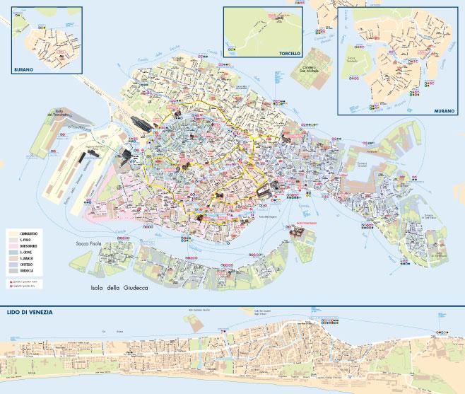 Cartina Venezia Mestre.La Mappa Di Venezia Pdf Vettoriale E Tiff Per La Stampa Mappecitta