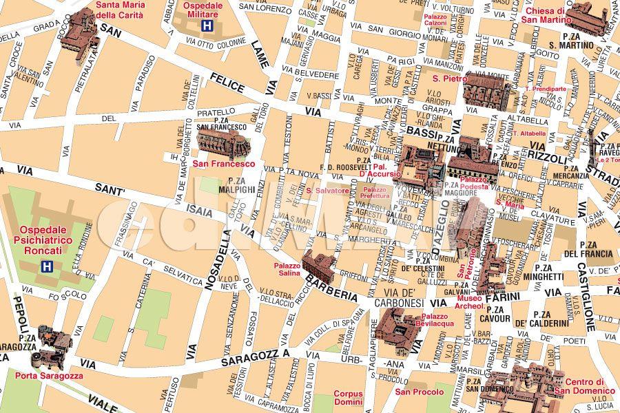 Mappa Bologna Cartina.Mappa Di Bologna Da Scaricare Cartina E Mappa Stradale Bologna Tuttocitta