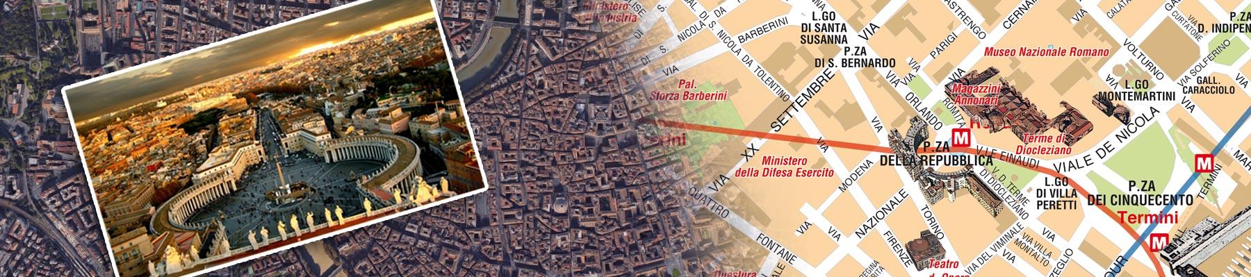 Cartina Roma Turistica.Mappa Di Roma Cartine Digitali Pdf Da Stampare